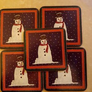 VPimpernel Coasters Vintage 1990's Snowman